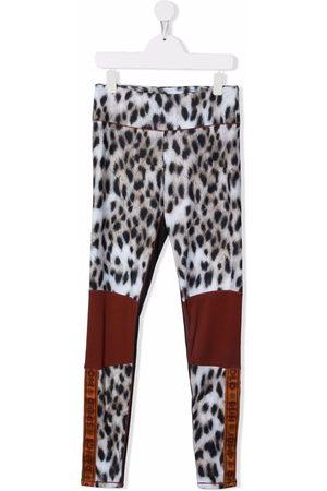Molo TEEN animal-print sports leggings - Neutrals