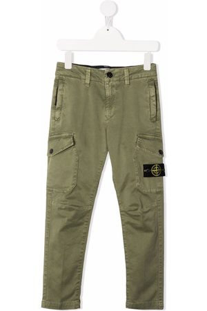 Stone Island Slim-fit cotton trousers