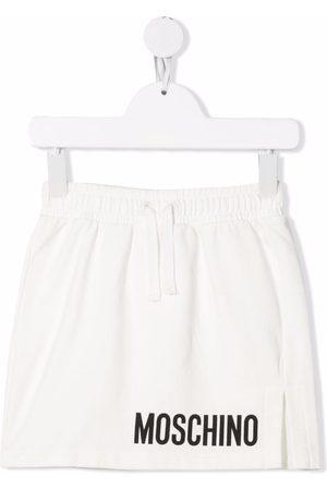Moschino Girls Printed Skirts - Logo-print midi skirt
