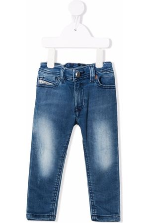 Diesel Straight - Stonewashed straight-leg jeans