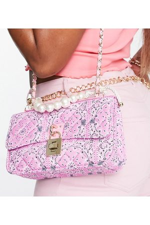 Steve Madden BVital crossbody bag with chain strap in lilac