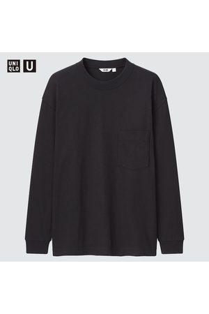 UNIQLO Men Long Sleeve - Men's U Crew Neck Long-Sleeve T-Shirt, , XXS