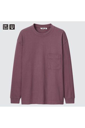 UNIQLO Men's U Crew Neck Long-Sleeve T-Shirt, , XXS