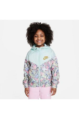 Nike Girls' Sportswear Printed Windrunner Size Small 100% Polyester