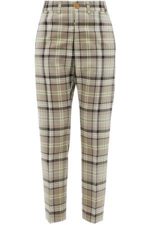 Vivienne Westwood Women Skinny Pants - George Tartan Wool Slim-leg Trousers - Womens - Multi