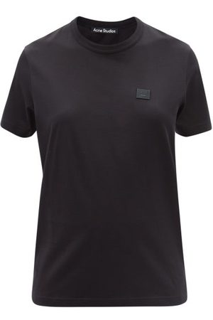 Acne Studios Ellison Face-patch Cotton-jersey T-shirt - Womens