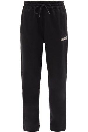 Ganni Software Cotton-blend Straight-leg Track Pants - Womens