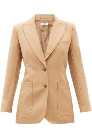 BELLA FREUD St James Wool Cavalry-twill Suit Jacket - Womens - Camel
