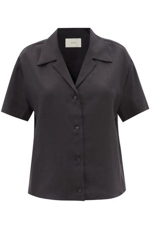 ASCENO Prague Short-sleeved Organic-linen Shirt - Womens