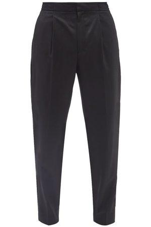 OFFICINE GENERALE Men Straight Leg Pants - Drew Wool-twill Straight-leg Trousers - Mens