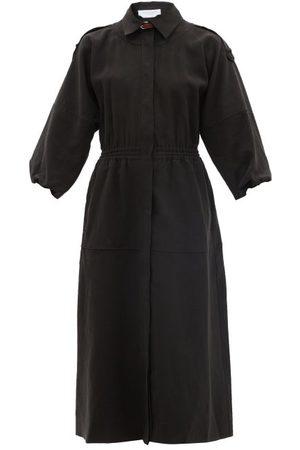 GABRIELA HEARST Women Casual Dresses - Ares Oversized Linen Midi Dress - Womens