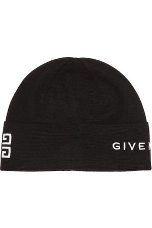 Givenchy Logo-embroidered Ribbed-wool Beanie Hat - Womens