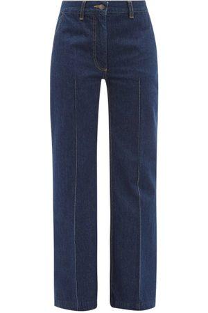 BELLA FREUD David Wide-leg Denim Jeans - Womens - Dark Denim