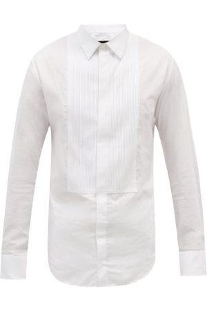 Armani Pleated-plastron Cotton-poplin Tuxedo Shirt - Mens