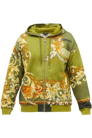 VERSACE Medusa Renaissance-print Cotton Hooded Sweatshirt - Mens