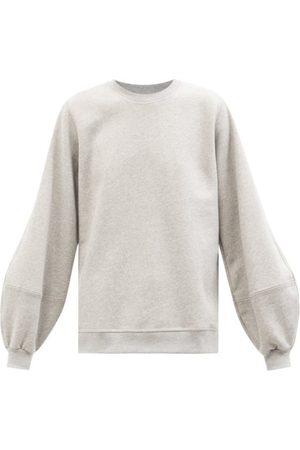 Ganni Women Sweats - Software Organic Cotton-blend Sweatshirt - Womens - Grey