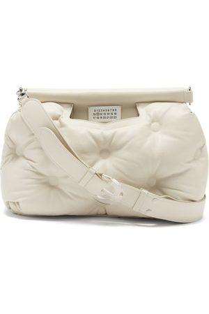 Maison Margiela Glam Slam Medium Quilted Leather Shoulder Bag - Womens - Light Grey