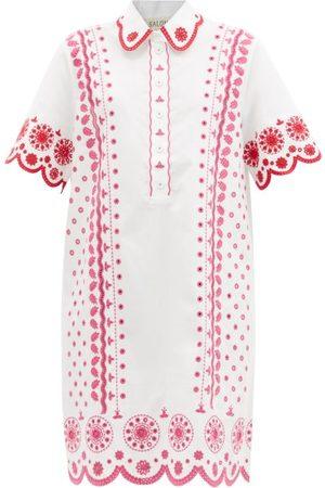 SALONI Women Casual Dresses - Dree Cotton Broderie-anglaise Shirt Dress - Womens - Multi