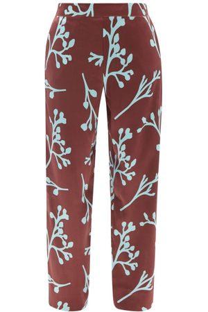 ASCENO London Floral-print Silk Pyjama Trousers - Womens - Multi