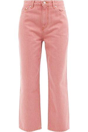 Ganni High-rise Straight-leg Jeans - Womens