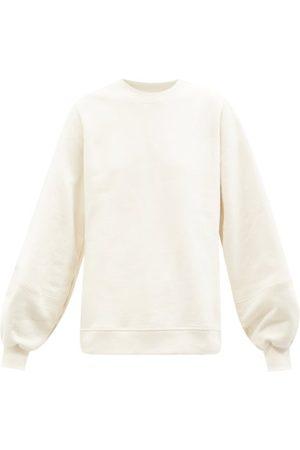 Ganni Software Organic-cotton Blend Jersey Sweatshirt - Womens - Ivory
