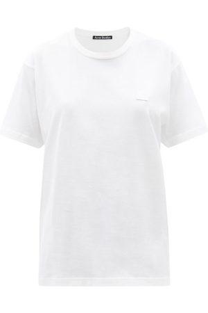 Acne Studios Nash Face-appliqué Cotton-jersey T-shirt - Womens