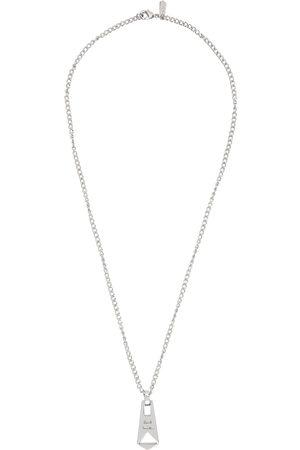 Paul Smith Silver Zip Pendant Necklace
