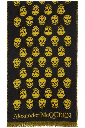 Alexander McQueen SSENSE Exclusive Reversible Yellow & Black Skull Scarf