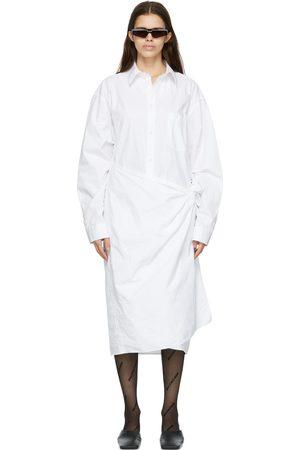 Balenciaga White Wrap Shirt Dress