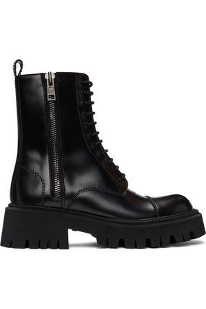 Balenciaga Black Tractor Boots