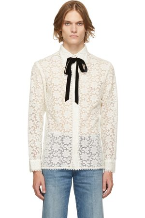 Gucci Off-White 'Floral Macrame' Blouse