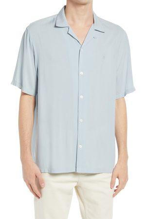 AllSaints Men's Venice Relaxed Fit Short Sleeve Button-Up Camp Shirt