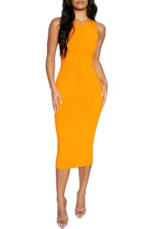 Naked Wardrobe Women's All Snatched Up Sleeveless Body-Con Dress