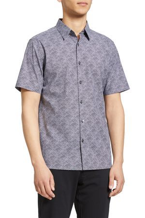 THEORY Men's Irving Wave Short Sleeve Button-Up Shirt