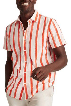 BONOBOS Men's Riviera Slim Fit Short Sleeve Madras Button-Up Shirt