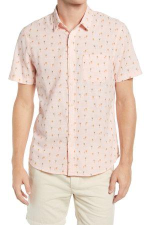 Marine Layer Men's Regular Fit Palm Short Sleeve Button-Up Shirt