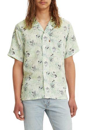 Levi's Men's Cubano Floral Print Short Sleeve Button-Up Camp Shirt