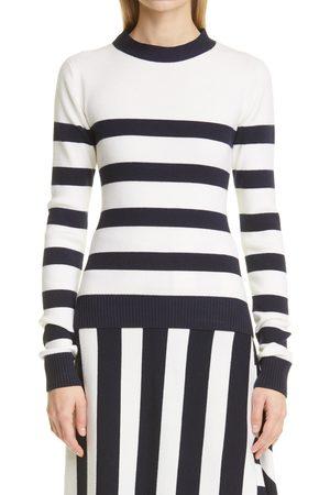 Monse Women's Stripe Open Back Sweater