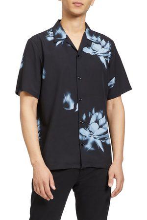 THEORY Men Short sleeves - Men's Noll Floral Short Sleeve Button-Up Shirt