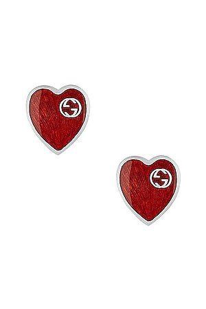 Gucci XS Heart Earrings in Metallic