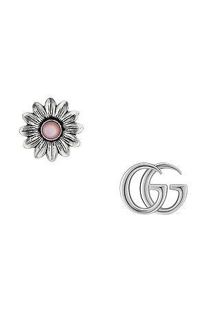 Gucci GG Marmont Flower Earrings in Metallic