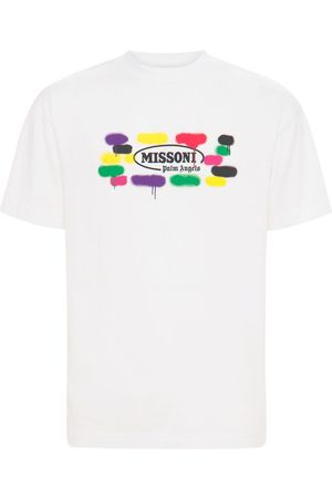 Palm Angels Men T-shirts - Missoni Printed Cotton Jersey T-shirt