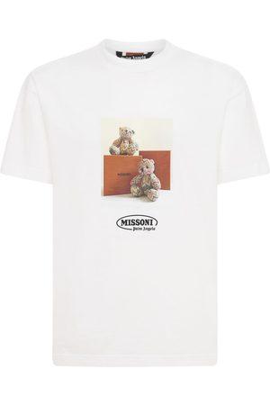 Palm Angels Men T-shirts - Missoni Bear Print Cotton Jersey T-shirt
