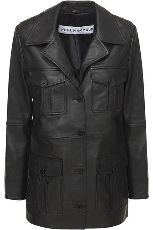 Nour Hammour Kargo Utilitarian Cargo Leather Jacket