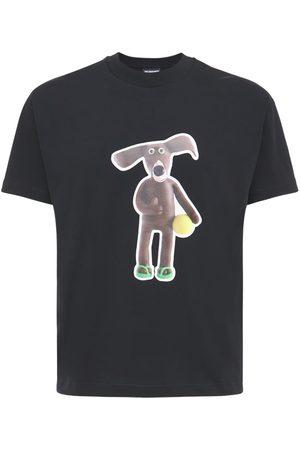 Jacquemus Men T-shirts - Le Toutou Printed Cotton Jersey T-shirt