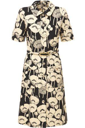 Gucci Poppy Print Viscose Jersey Dress