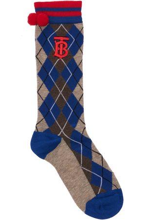 Burberry Boys Socks - Cotton Blend Knit Socks