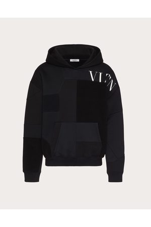 VALENTINO Cotton Patchwork Sweatshirt With Vltn Logo Man / 94% Cotton L
