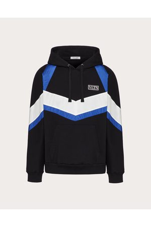 VALENTINO Cotton Sweatshirt With Vltn Tag Color Block Man / Cotton 100% L