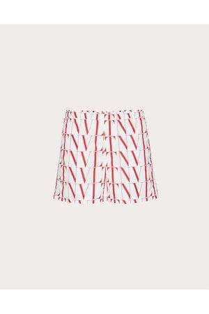 VALENTINO Swim Shorts With Vltn Times Print Man / 100% Poliammide 46